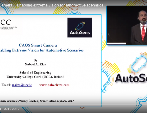 Professor Nabeel Riza's  Invited  Speech Video on the CAOS Smart Camera Featured by AutoSens Brussels 2017