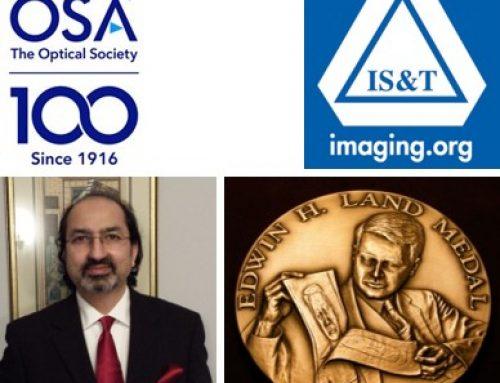 Professor Nabeel Agha Riza Wins Prestigious  OSA & IS&T 2019 Edwin H. Land Medal