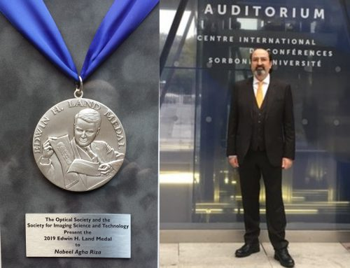 Nabeel Agha Riza Presented the 2019 Edwin H. Land Medal at IS&T CIC27, Sorbonne Univ., Paris, France