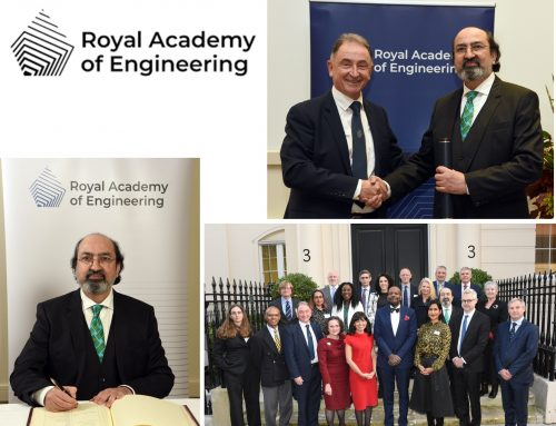 Professor Nabeel Agha Riza  Inducted as 2021 International Fellow of  The Royal Academy of Engineering